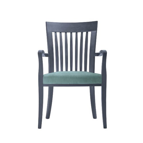 Marta-Arm-Chair-Stripes-Upholstered-PO03-Front