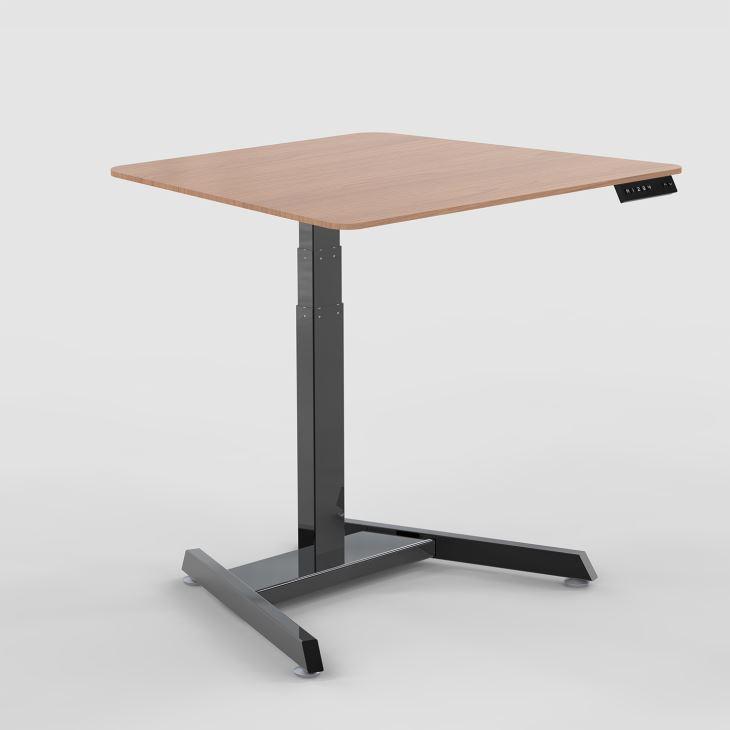 1-leg-height-adjustable-desk-ELEVATE GVA Interiors
