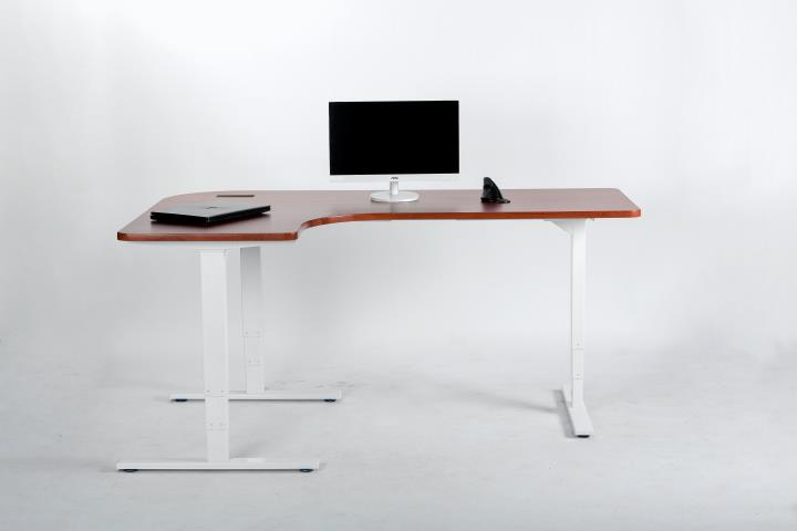 3-legs-l-shape-standing-sit stand desk ELEVATE GVA Interiors