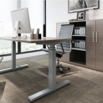 ELECTRIC HEIGHT ADJUSTABLE DESK from GVA INTERIORS