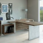 Private Office Wood and Stone - GVA Interiors